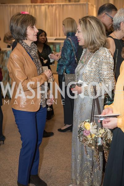 Ambassador Dina Kawar, Jillian Sackler, Freer Sackler, Gallery of Art, Empresses of China, March 27, 2019. Photo by Ben Droz.