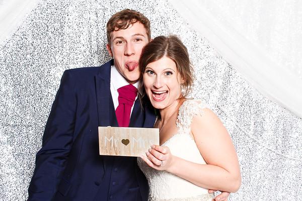 Rachael and John wedding photo booth