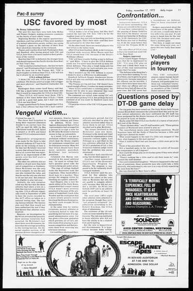 Daily Trojan, Vol. 65, No. 42, November 17, 1972