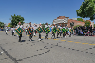 190608 LHS MARCHING BAND AT THE RODEO PARADE