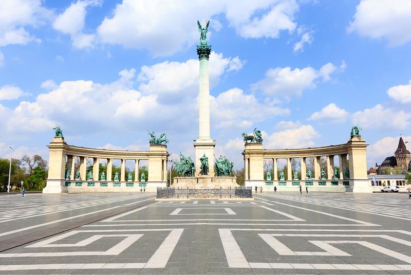 Heroe's Square in Budapest