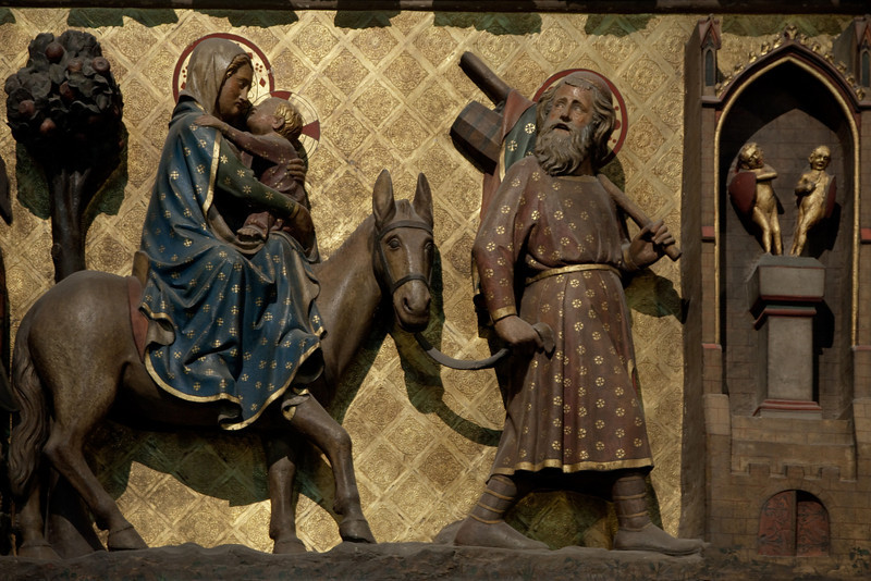 Paris, Notre-Dame Cathedral, Choir Screen,The  Flight into Egypt