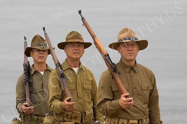 Pictures Historical Re-Enactors of U.S. Army World War I Soldiers