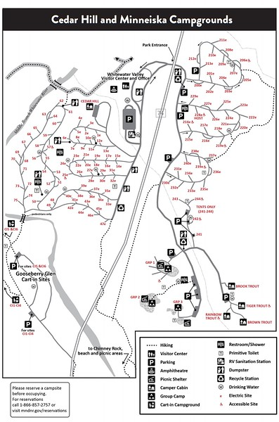 Whitewater State Park (Campground Maps)