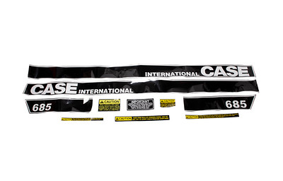 CASE IH CASE 685 L CAB SERIES BONNET DECAL SET