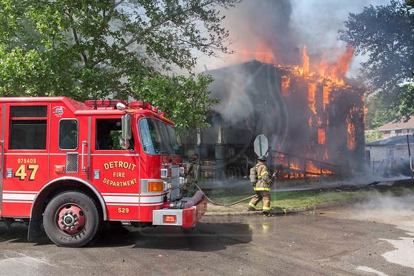 Detroit, MI - June 6, 2013 - Box Alarm - 4804 Cabot St.