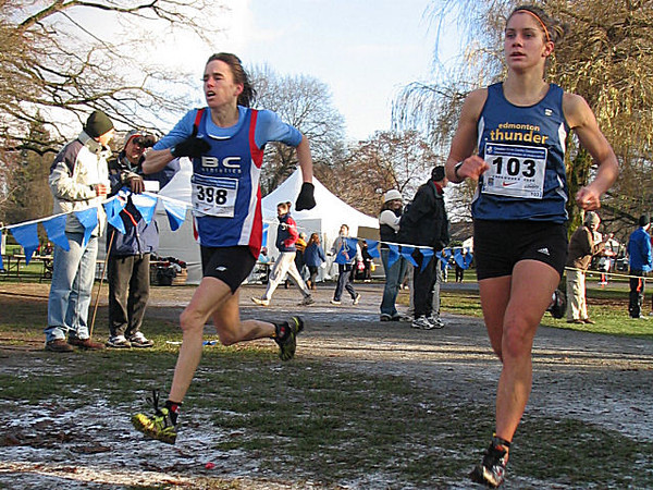 2005 Canadian XC Championships - Nancy Tinari ran the senior race instead of the masters