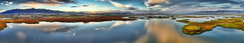 Cutler Marsh Sunset Pano