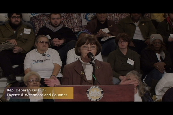 United Home Care Workers of Pennsylvania Press Conference Part 5 of 8 (Representative Deberah Kula (D) Fayette and Westmoreland Counties) - 25 January 2011