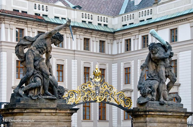 Statues at Prague Castle