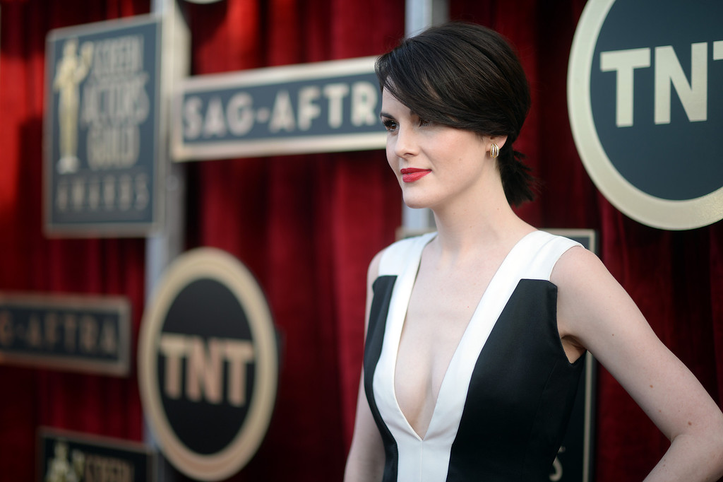 . Michelle Dockery on the red carpet at the 20th Annual Screen Actors Guild Awards  at the Shrine Auditorium in Los Angeles, California on Saturday January 18, 2014 (Photo by Hans Gutknecht / Los Angeles Daily News)