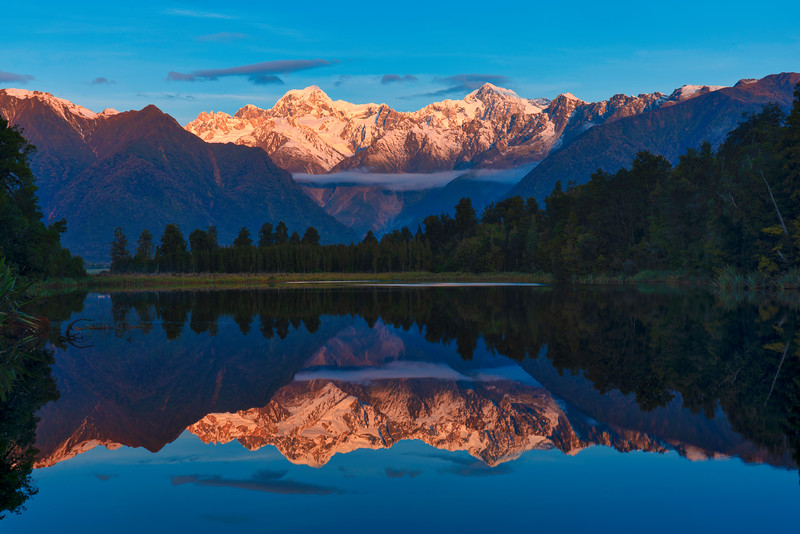 Mt Tasman and Mt Cook Reflection
