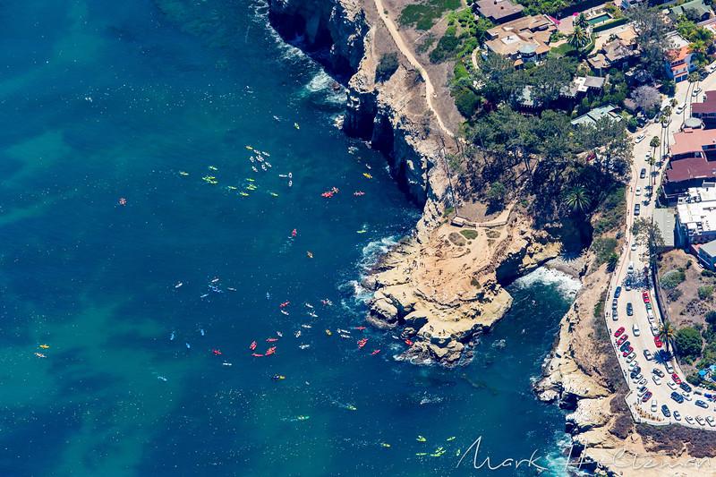 Kayakers in La Jolla Bay