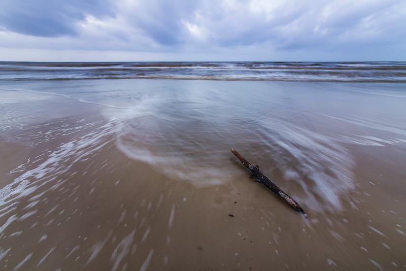 Log on Beach in Cape San Blas