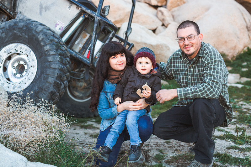 Polizzi Family in Cougar Buttes