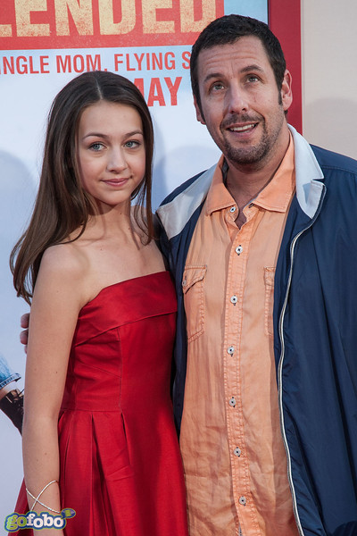 HOLLYWOOD, CA - MAY 21: Actors Emma Fuhrmann and Adam Sandler arrive at the Los Angeles premiere of 'Blended' at TCL Chinese Theatre on Wednesday May 21, 2014 in Hollywood, California. (Photo by Tom Sorensen/Moovieboy Pictures)