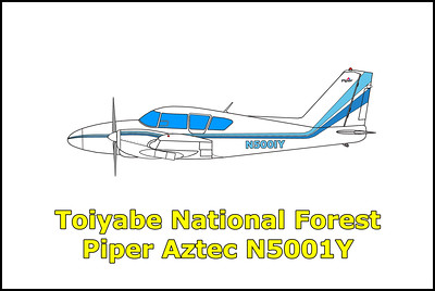 Toiyabe National Forest Piper Aztec N5001Y 5/27/12