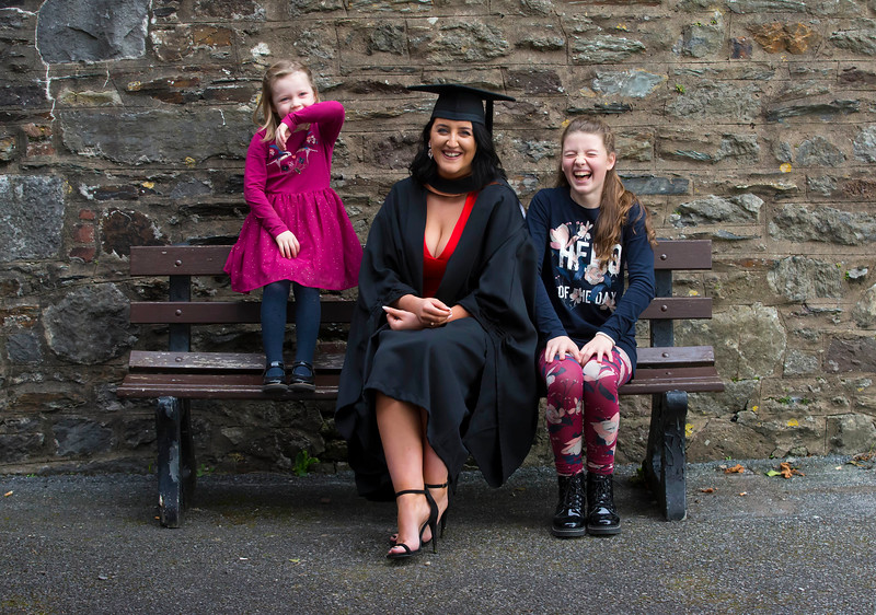 02/11/2017. FREE TO USE IMAGE. WIT (Waterford Institute of Technology) Conferring, Waterford City is Aoife Martin Enniscorthy, Co. Wexford who graduated Bachelor of Business Honours, also pictured is her nieces Nia and Lauren Farrell. Picture: Patrick Browne