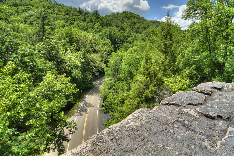 The view atop the arch at Backbone Rock Recreation Area, located in Tennessee near Damascus, VA on Friday, June 14, 2013. Copyright 2013 Jason Barnette