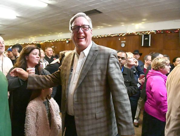 11/5/2019 Mike Orazzi | StaffrGreg Hahn 1st District at the Polish Club on Tuesday night.