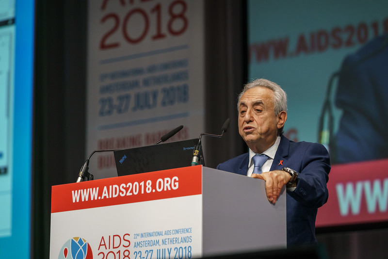 22nd International AIDS Conference (AIDS 2018) Amsterdam, Netherlands.   Copyright: Matthijs Immink/IAS Building bridges from scientific innovation to implementation Photo shows: Pedro Cahn
