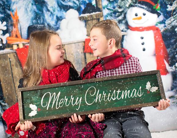 Bella and Isaac Christmas 2018