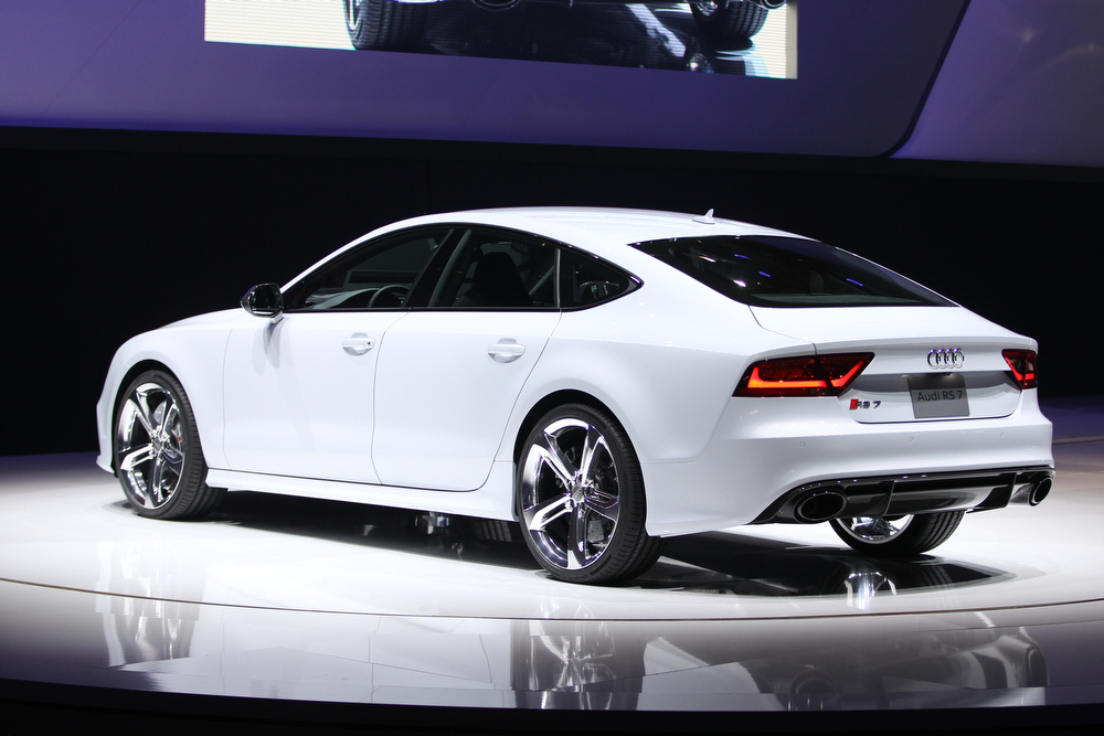 . The Audi RS7 is introduced at the 2013 North American International Auto Show in Detroit, Michigan, on January 14, 2013.    AFP PHOTO/Geoff RobinsGeoff Robins/AFP/Getty Images