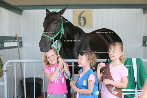 Girls Scouts at Hoosier Park June 10th, 2016