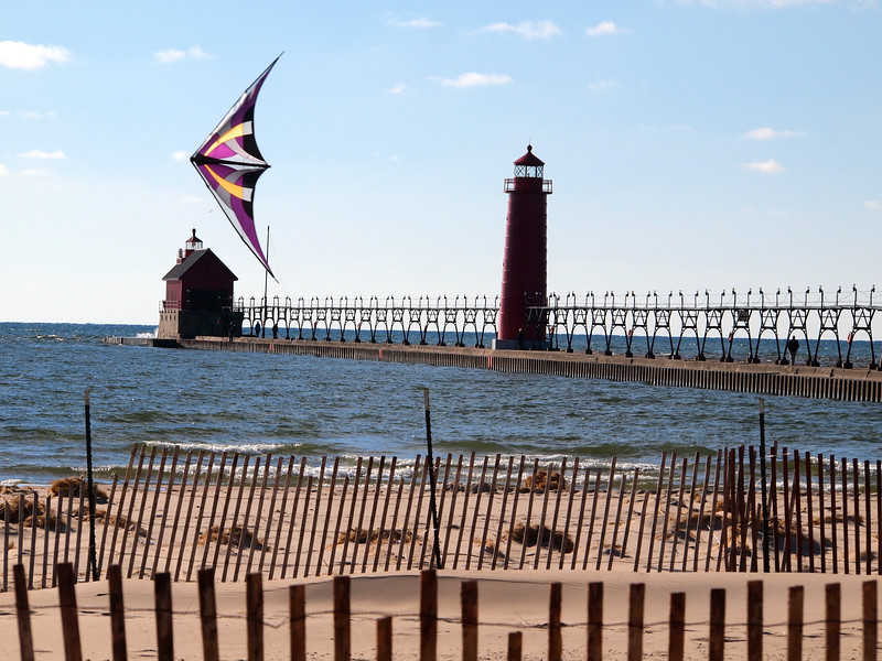 Grand Haven Beach in Michigan