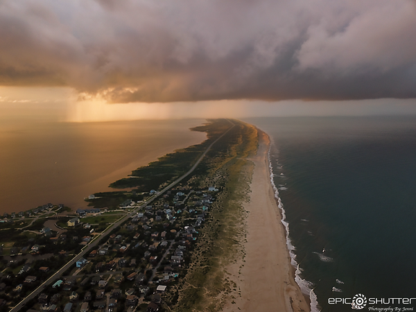 August 14, 2020 Storm Clouds, Aerial Photography, Avon, NC