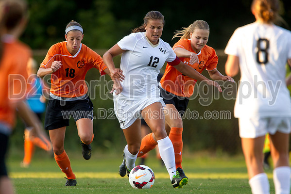 Wake Forest Deacons vs Campbell Camels Women's Soccer 8/16/2013