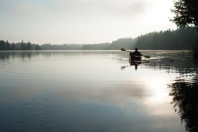 Bearcamp Pond, early Wednesday.