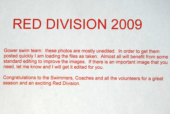 Red Division 2009 (SAIL)