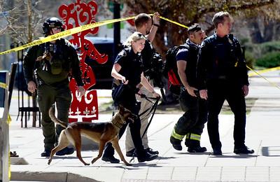 Photos: Bomb Threat  Around Pearl Street in Boulder