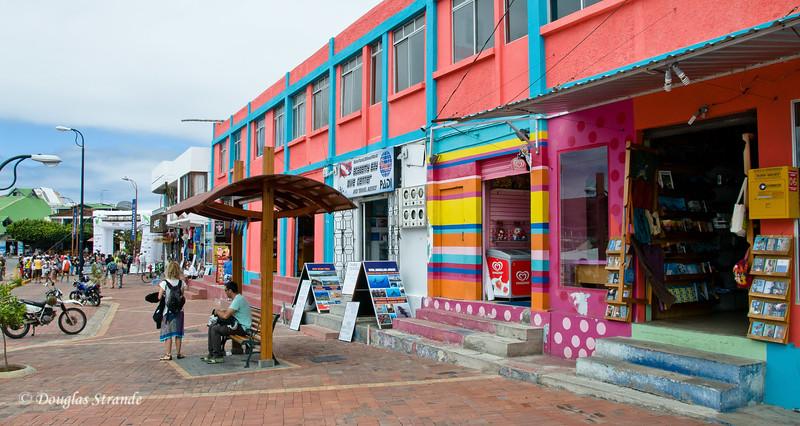Street scene in Puerto Ayora on Santa Cruz Island