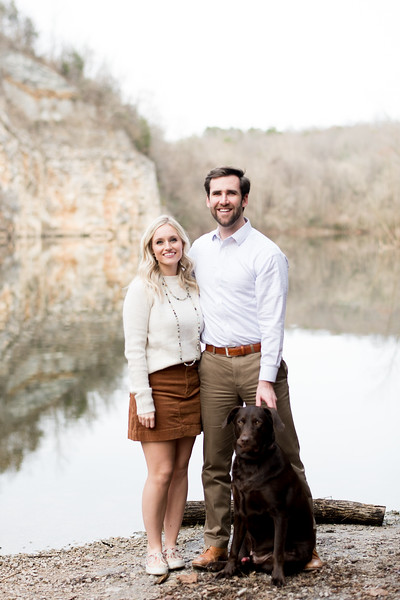 Engagement Picture with dog.