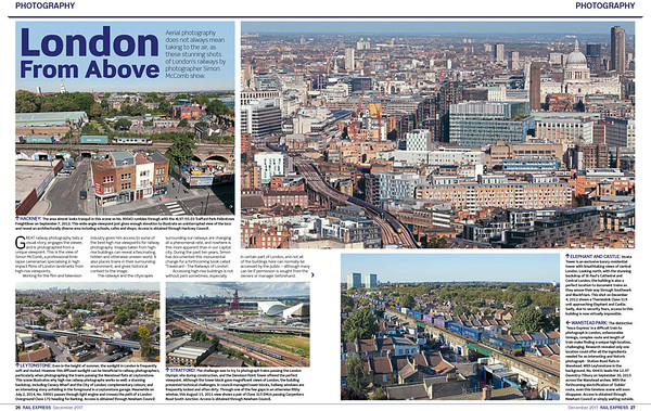 Rail Express magazine photography feature : London From Above