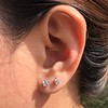 .52ctw Carre Cut Diamond Stud Earrings 13