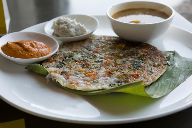 Uttampam from the Intercontinental hotel restaurant (breakfast).