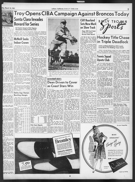 Daily Trojan, Vol. 32, No. 97, March 10, 1941