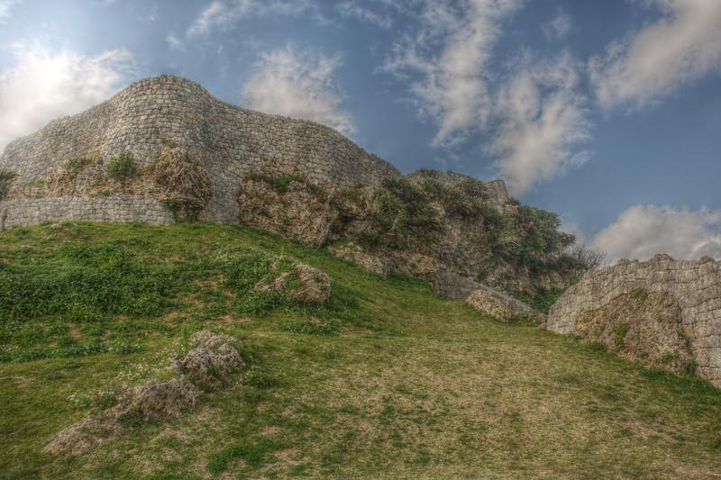 Katsuran Castle first enclsoure walls
