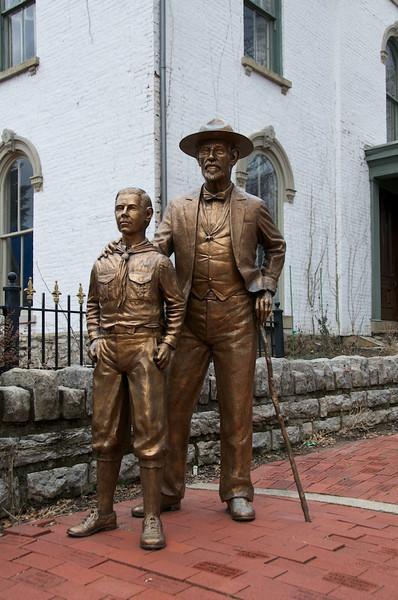 Daniel Carter Beard House - commemorative statues