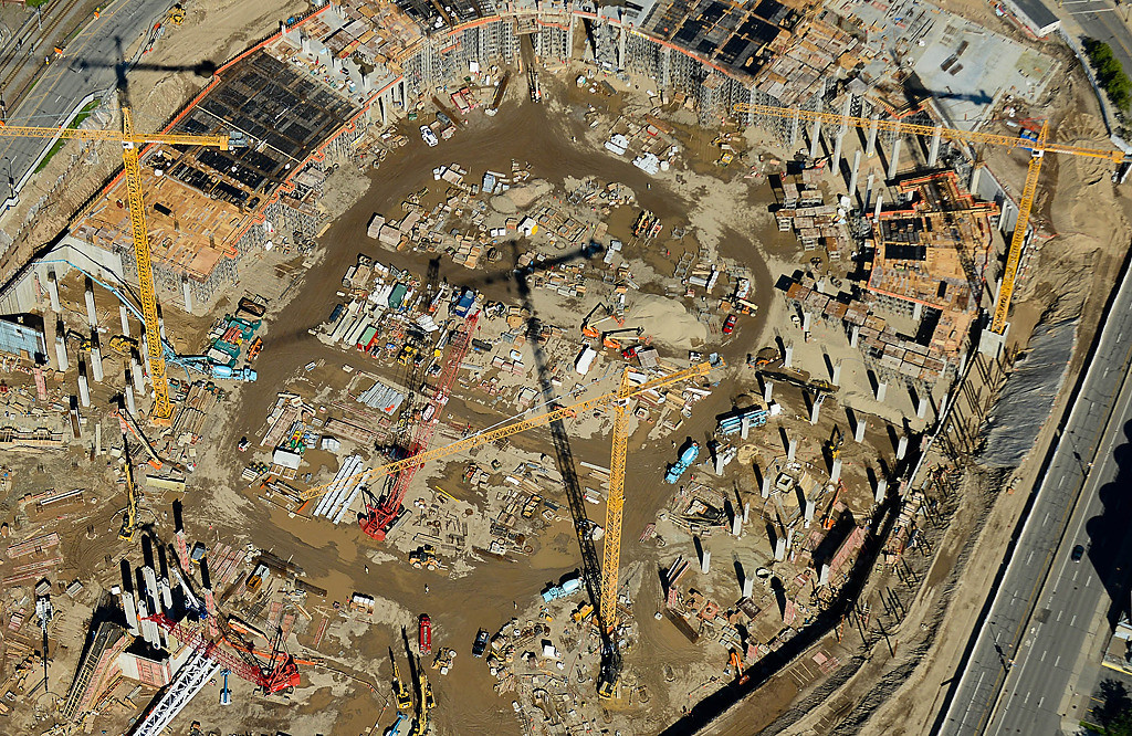 . The new Vikings stadium construction is well underway. (Pioneer Press: Ben Garvin)