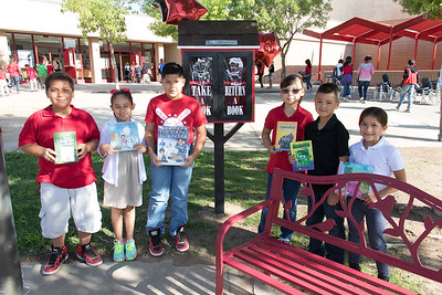 Campestre Elementary Little Free Library reveal