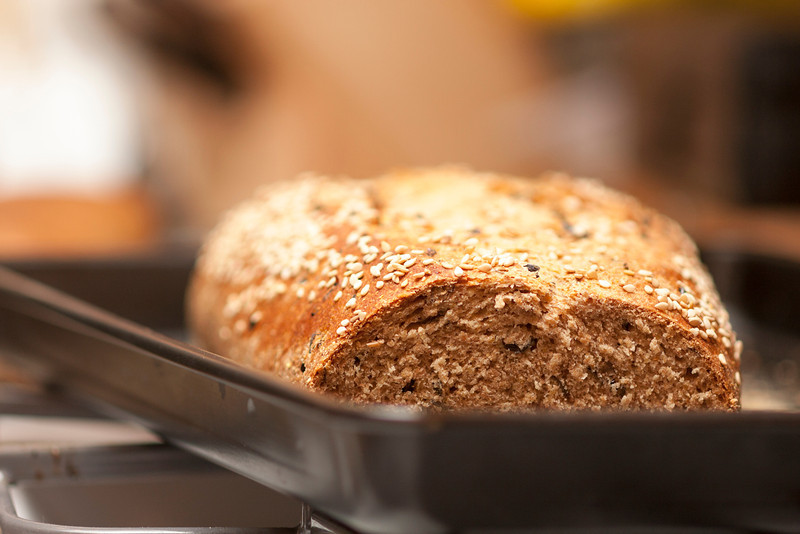 Baked bread.