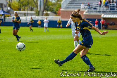 Michigan Women's Soccer Vs Nebraska 9-30-12