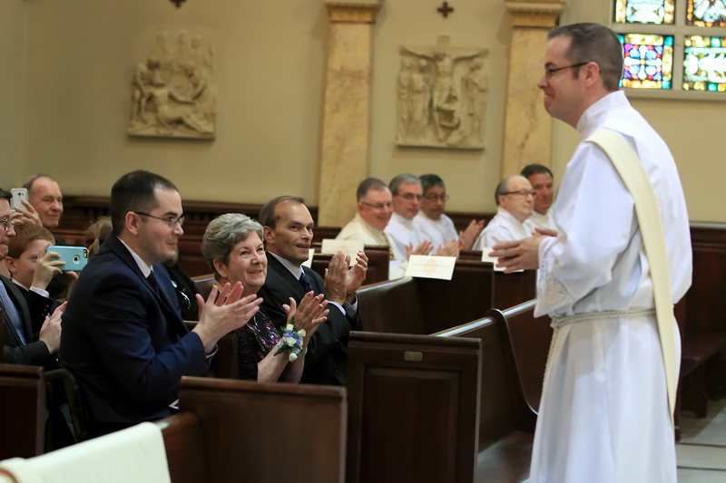 Richard Jasper family claps as he is presented to the Bishop during the Ordination of  at Cathedral of Saint Peter Church, Saturday, May 20, 2017. wwwDonBlakePhotography.com