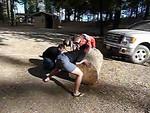 Slo mo log roll video