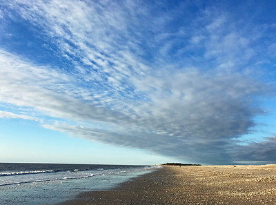 SC, Morning at Edisto Beach, South Carolina; January 5, 2017