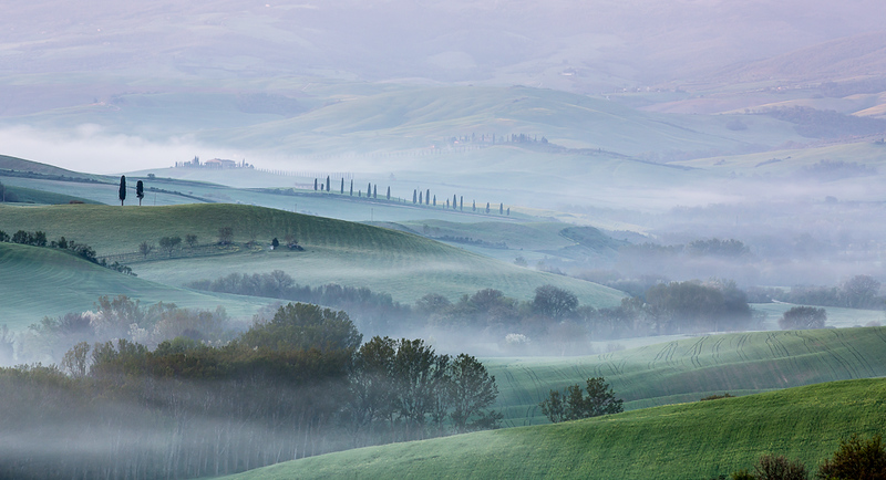 Val d'Orcia misty morning
